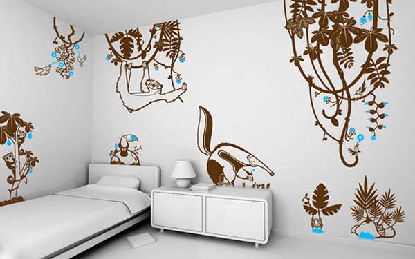 墙体彩绘是最新流行的墙面装饰选择之一