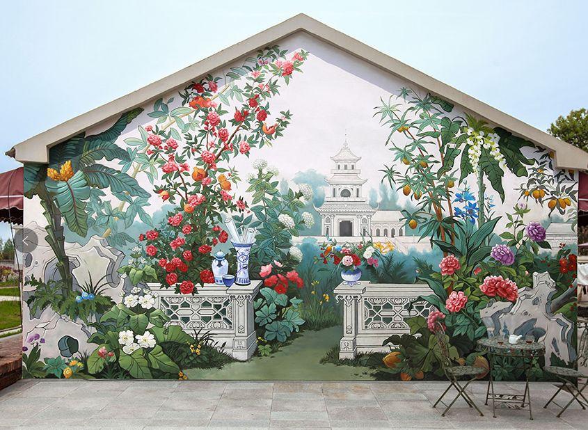 墙绘彩绘的含义及具体画法