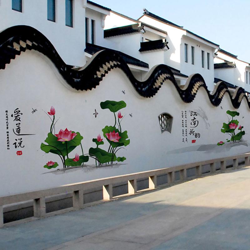 户外砖墙彩绘图片