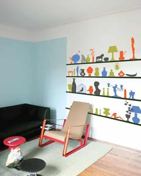 手绘墙设计是很迷人的,足以作为一个全新的装饰理念