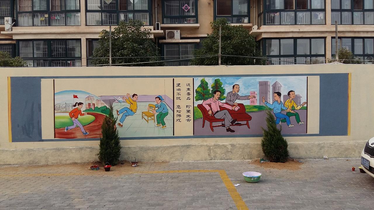 南昌手绘背景,南昌室内墙绘,南昌美丽乡村文化墙彩绘,南昌美丽乡村墙绘