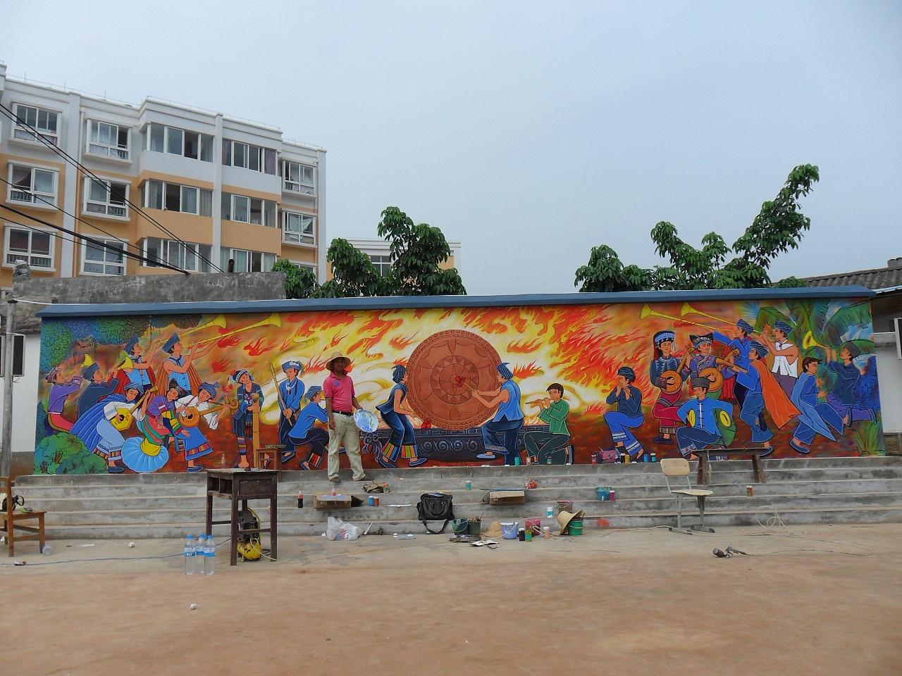 南昌室外墙体彩绘,南昌农村墙体彩绘,南昌彩绘墙绘,南昌农村外墙绘画