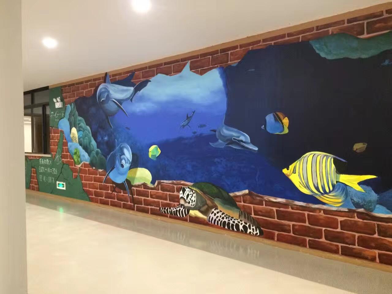 南昌手绘墙体,南昌墙绘3d,南昌墙绘壁画,南昌幼儿园墙绘画