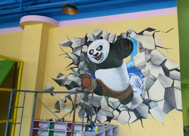 南昌彩绘3d,南昌手绘3d立体画,南昌壁画手绘墙,南昌墙体手绘