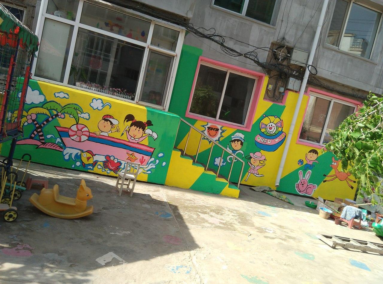南昌幼儿园涂鸦,南昌墙面涂鸦,南昌室外墙体喷绘