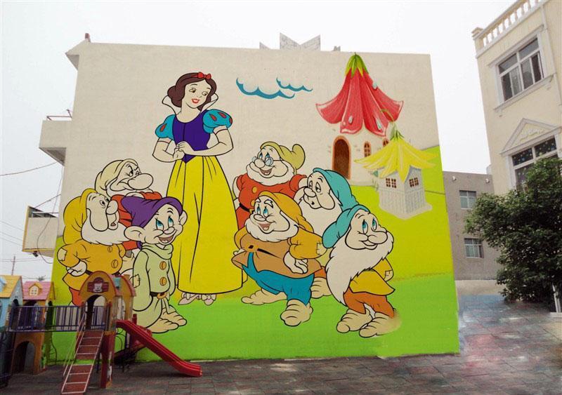 南昌幼儿园手绘,南昌3d涂鸦,南昌餐馆墙体彩绘,南昌外墙绘画