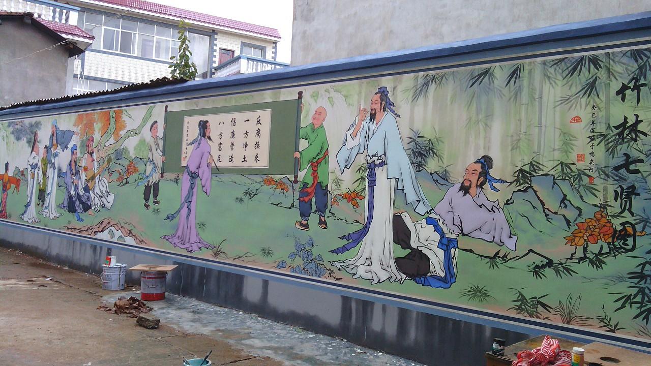 南昌墙上绘画,南昌美丽乡村墙体彩绘,南昌墙绘墙体彩绘