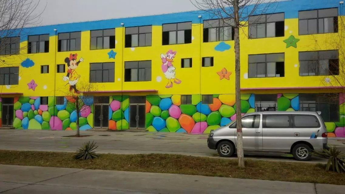 南昌幼儿园彩绘墙画,南昌彩绘墙画,南昌涂鸦墙幼儿园,南昌户外墙体喷绘广告