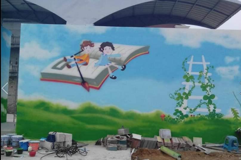 南昌喷绘墙体广告公司,南昌室内手绘,南昌幼儿园彩绘墙,南昌手绘装饰画